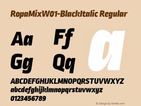 RopaMix-BlackItalic