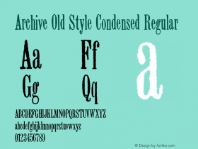Archive Old Style Condensed