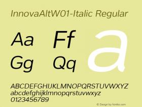 InnovaAlt-Italic