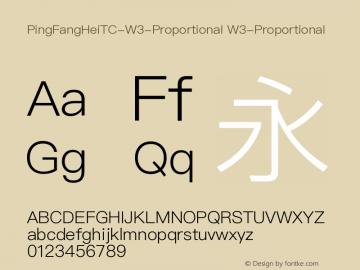 PingFangHeiTC-W3-Proportional