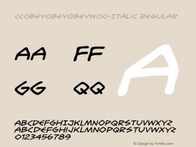 CCObeyObeyObey-Italic