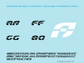 Starfighter Bold Expanded Italic