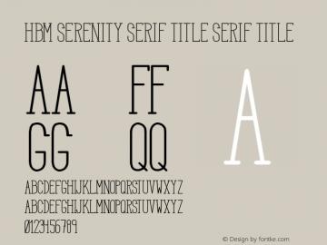 HBM Serenity Serif Title