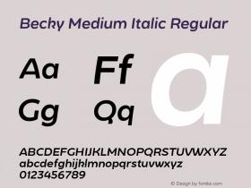 Becky Medium Italic