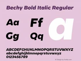 Becky Bold Italic