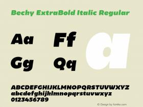 Becky ExtraBold Italic