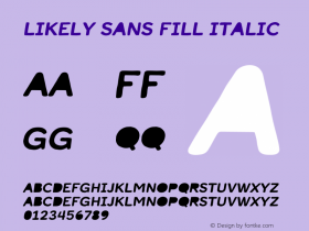 Likely Sans Fill