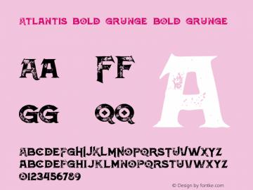 Atlantis Bold Grunge