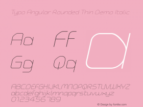 Typo Angular Rounded Thin