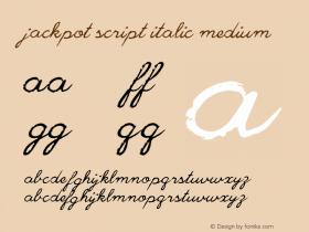 Jackpot Script Italic
