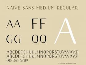 Naive Sans Medium