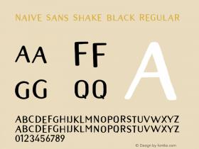 Naive Sans Shake Black