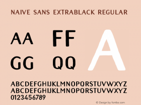 Naive Sans Extrablack