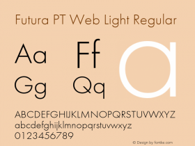 Futura PT Web Light
