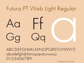 Futura PT Web Light