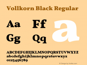 Vollkorn Black