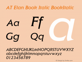 AT Elan Book Italic