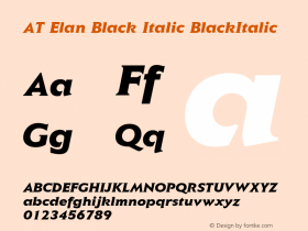 AT Elan Black Italic
