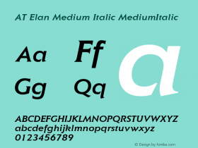 AT Elan Medium Italic