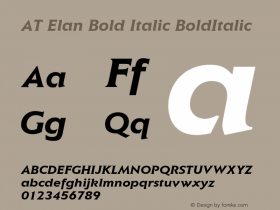 AT Elan Bold Italic
