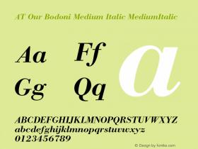 AT Our Bodoni Medium Italic