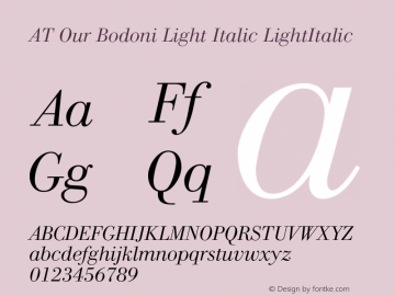 AT Our Bodoni Light Italic