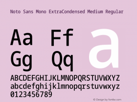 Noto Sans Mono ExtraCondensed Medium