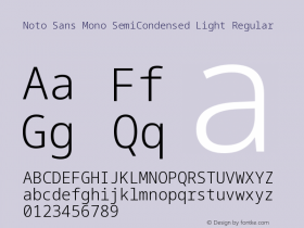 Noto Sans Mono SemiCondensed Light