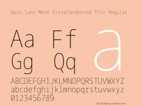 Noto Sans Mono ExtraCondensed Thin