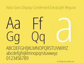 Noto Sans Display Condensed ExtraLight