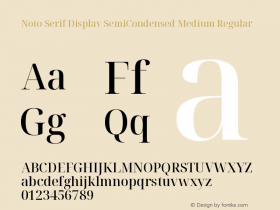 Noto Serif Display SemiCondensed Medium