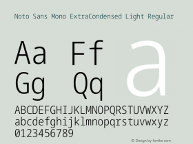 Noto Sans Mono ExtraCondensed Light