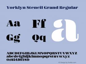 Yorklyn Stencil Grand