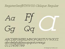 RegisterSerifBTN-Oblique