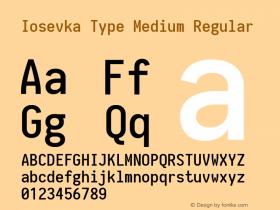 Iosevka Type Medium