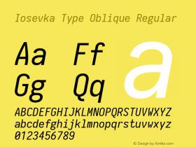 Iosevka Type Oblique