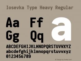 Iosevka Type Heavy