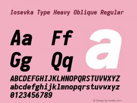 Iosevka Type Heavy Oblique