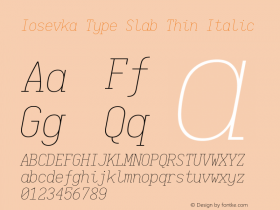 Iosevka Type Slab Thin