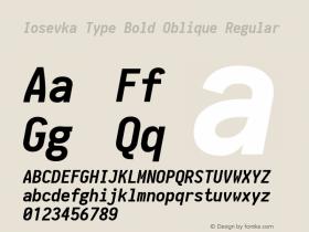 Iosevka Type Bold Oblique