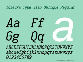 Iosevka Type Slab Oblique