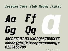Iosevka Type Slab Heavy