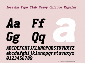 Iosevka Type Slab Heavy Oblique
