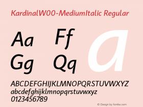 Kardinal-MediumItalic
