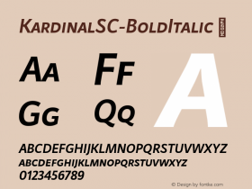 KardinalSC-BoldItalic