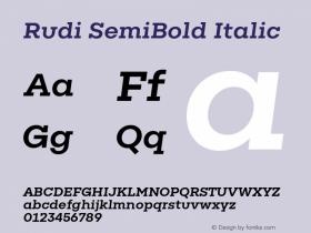 Rudi SemiBold