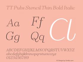 TT Pubs Stencil Thin