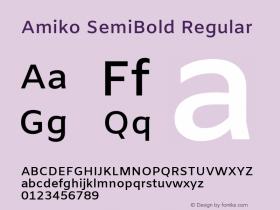 Amiko SemiBold