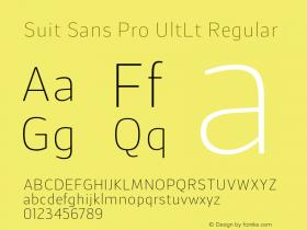 Suit Sans Pro UltLt