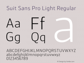 Suit Sans Pro Light